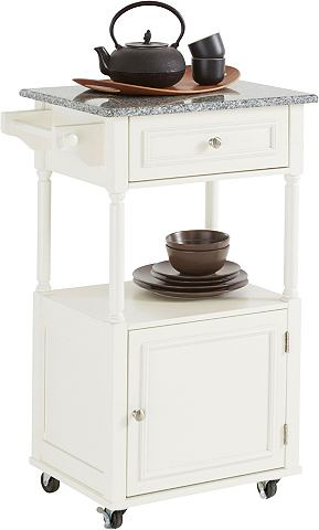 HOME AFFAIRE Стол кухонный на колесиках с столешниц...