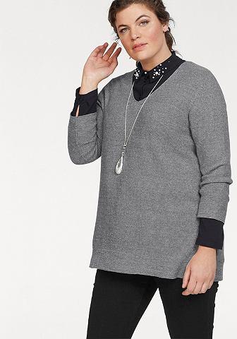 VIA APPIA DUE Пуловер с V-образным вырезом