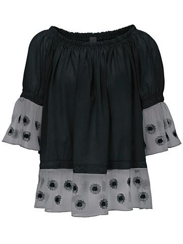 Блузка в стиле кармен с Volannt на рук...
