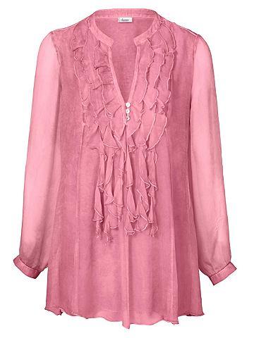 Блузка длинная из шелк