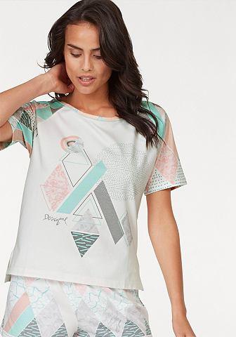 Короткое блузка с gemusterten Raglan&a...