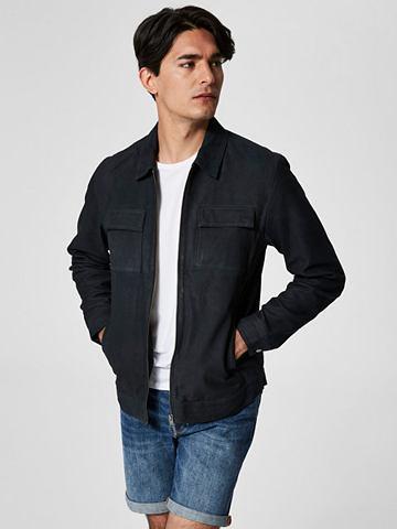 SELECTED HOMME Schaf куртка кожаная