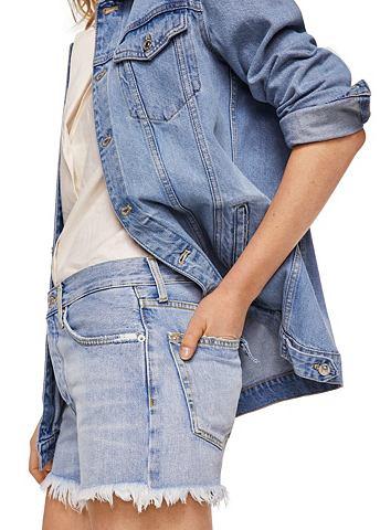 MANGO Шорты джинсовые с высокий талия