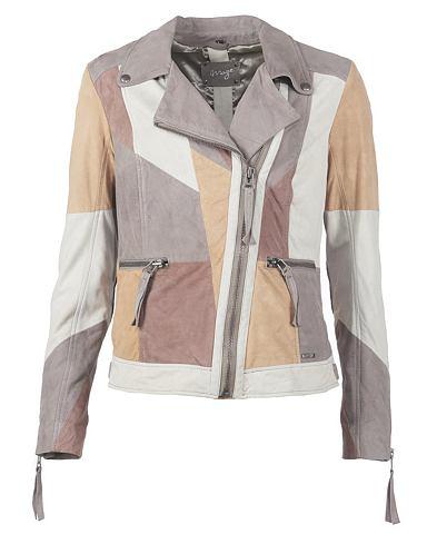 Куртка на молнии из мягкий Velourleder...