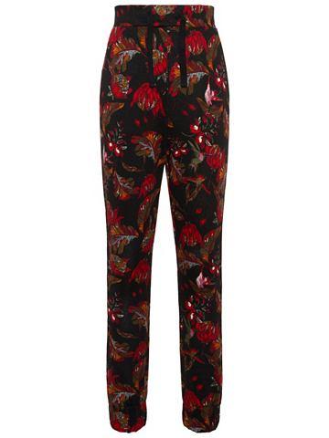 Цветы брюки трикотажные