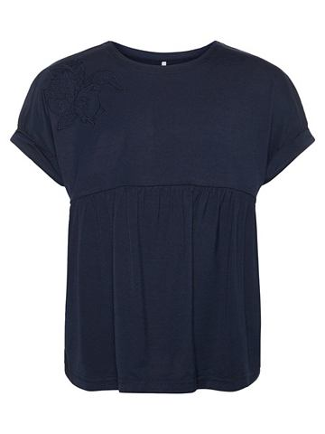 Lockeres цветочнaя вышивка футболка