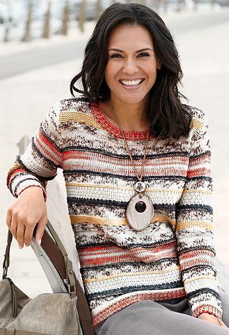 Пуловер в attraktiven узор