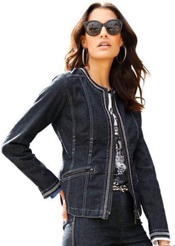 Пиджак джинсовый с Zierband в Ketten-O...