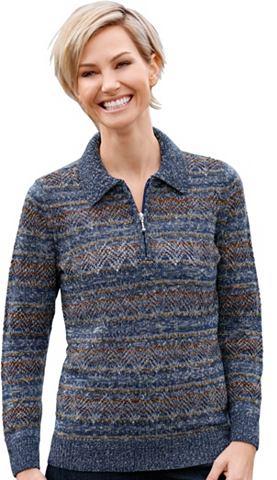 Пуловер с Streifen- и ажурный узор