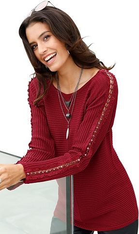 Пуловер с durchbrochenem Nieteneinsatz...