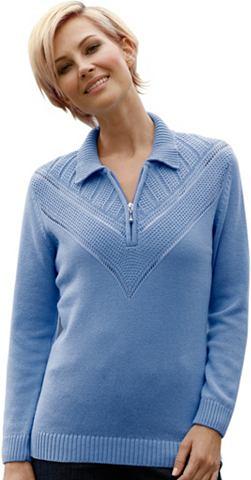 Пуловер с hübschem ажурный узор