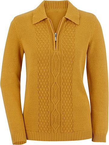 Пуловер с gerippten Ärmel- и Saum...