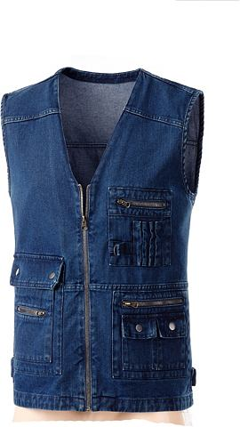 Жилет джинсовый с horizontaler швы на ...