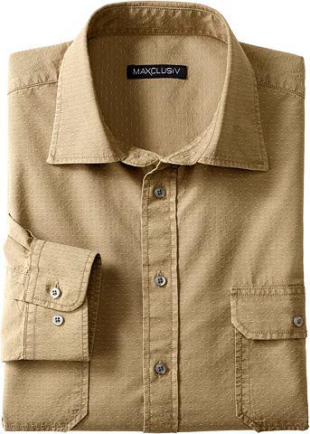 Рубашка с длинными рукавами с закатанн...