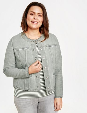 Куртка джинсы + Gewebe Жакет с Fransen...