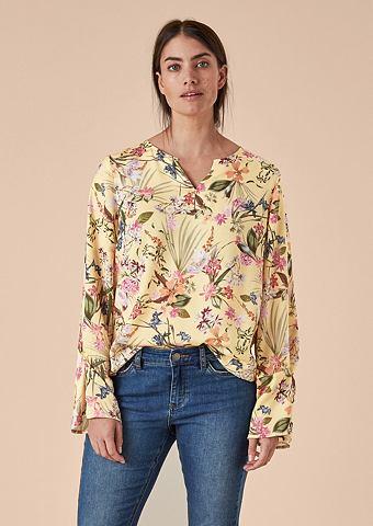 Блузка сатиновая с c цветочным узором