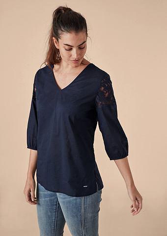 Нежный блузка хлопковая с кружева