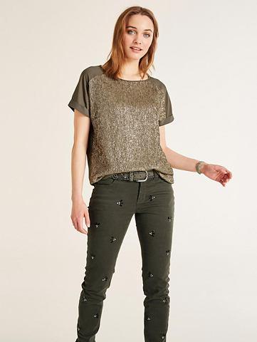 Блузка-рубашка с Glanzeffekt