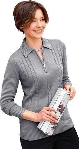 Пуловер в attraktiven стежка