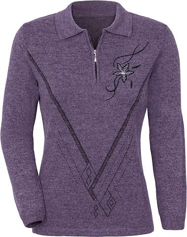 Пуловер с контрастный Strickmuster