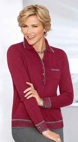 CLASSIC Пуловер поло с пуговицы