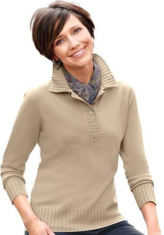 Пуловер с воротник поло