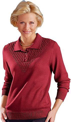 CLASSIC Пуловер поло с goldfarbenen Декоративн...