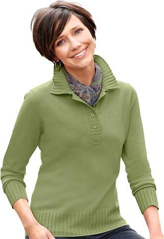 CLASSIC BASICS Пуловер с воротник поло