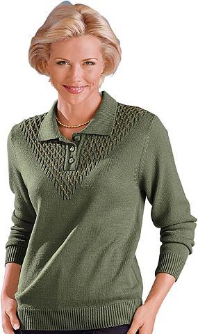 Пуловер поло с goldfarbenen Декоративн...