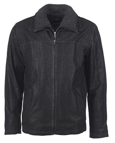 Куртка кожаная с съемный вставка &raqu...