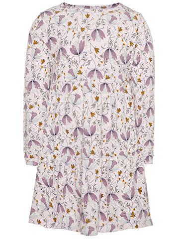 A-формы цветочным узором платье