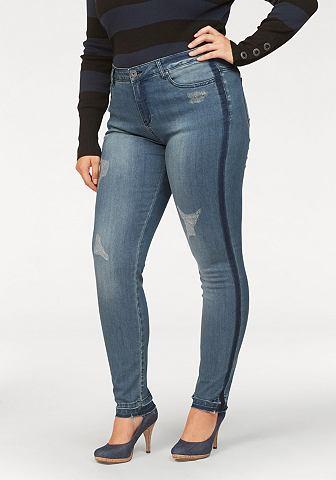Узкие джинсы »mit Destroyed Effe...