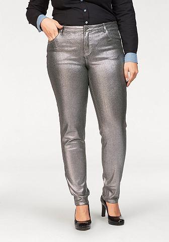 Узкие джинсы »mit silberfarbener...