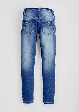 Облегающий Suri: джинсы с приложений д...