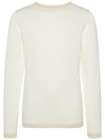 NAME IT Блестящий орнамент трикотажный пуловер...