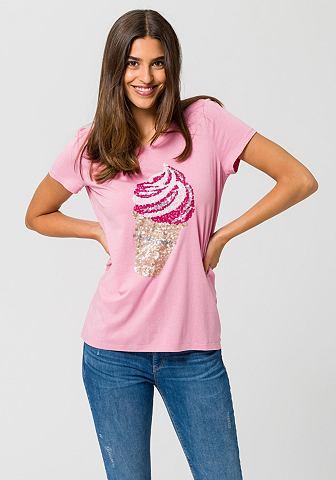 ESPRIT Блуза с круглым вырезом