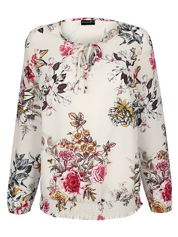 Платье в туника с цветочный узор
