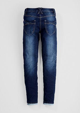 Облегающий Suri: джинсы с имитация тер...