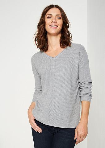 Трикотажный пуловер в Rippenoptik