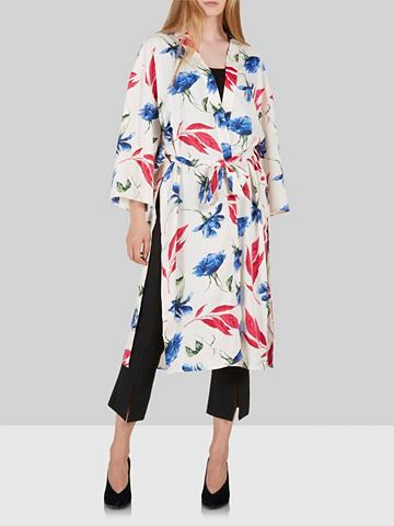 Y.A.S Geschlitzter цветы кимоно халат