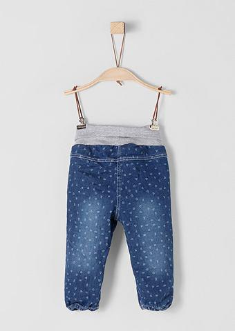 С узором джинсы с талия для Babys