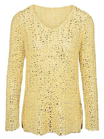 Пуловер с Metallic-Effekt