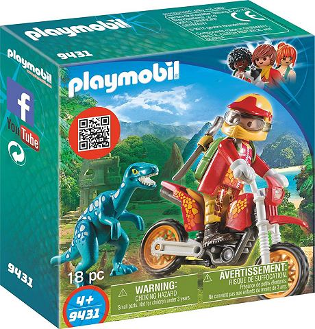 PLAYMOBIL ® Motocross-Bike с Raptor (9431) &...