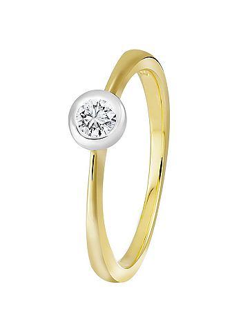 DIAMOND LINE Кольцо золотое с качествeнный Diamant-...