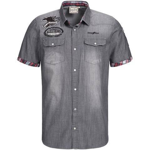 Рубашка с короткими рукавами с вышивка...