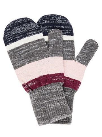 Полосатый Glitzerstrick перчатки