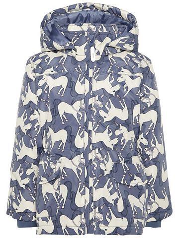 Mello Einhorn-Print куртка зимняя