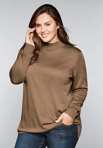 Sheego пуловер с воротником-стойкой