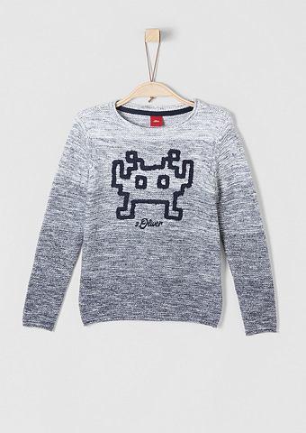 Трикотажный пуловер с Artwork для Jung...