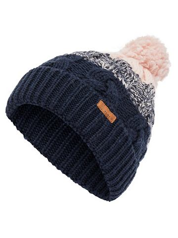 Bommel Zopfstrick Woll шапка